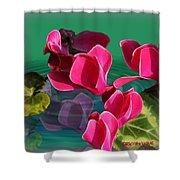 Spring Cyclamen Shower Curtain