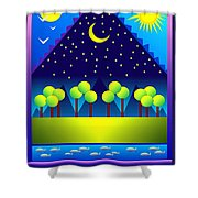 Spring Greetings Shower Curtain