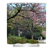 Spring In Bloom At The Japanese Garden Shower Curtain