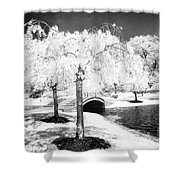 Spring In Infrared Shower Curtain