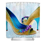 Spring In Your Step Pumps Shower Curtain