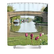 Spring On The Oxford Canal Shower Curtain