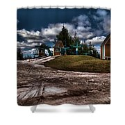 Spring Skiing Shower Curtain
