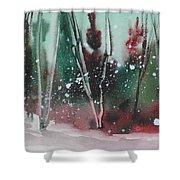 Spring Snowfall  Shower Curtain