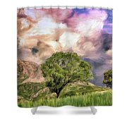 Spring Storm In Tuscany Shower Curtain