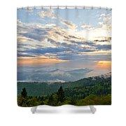 Spring Sunset Panorama Shower Curtain