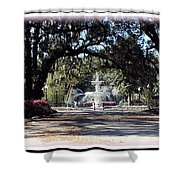 Spring Walk Through Forsyth Park Shower Curtain