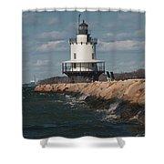 Springpoint Ledge Light House Shower Curtain