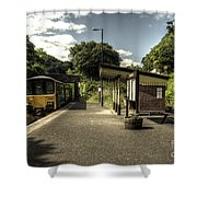 Sprinter At Sandplace Shower Curtain by Rob Hawkins