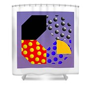Square Dance Shower Curtain