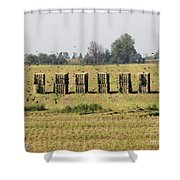 Square Hay Bales Shower Curtain