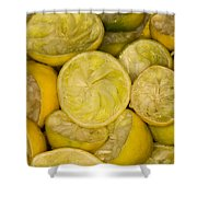 Squeezed Key Lime Halves Shower Curtain