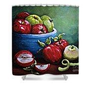 Srb Apple Bowl Shower Curtain