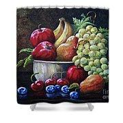 Srb Fruit Bowl Shower Curtain