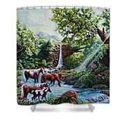 Srb Wild Horses Shower Curtain