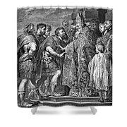 St. Ambrose & Theodosius Shower Curtain