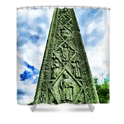 St Augustines Cross Close Up Shower Curtain