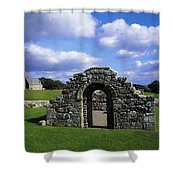 St Brigids Church, Inis Cealtra Holy Shower Curtain