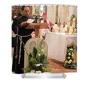 St. Catherine Church Mass Shower Curtain