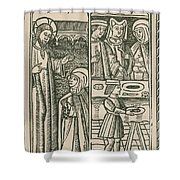 St. Catherine, Italian Philosopher Shower Curtain by Science Source