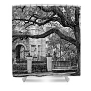 St. Charles Ave. Monochrome Shower Curtain