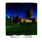St Davids Cathedral Pembrokeshire Glow Shower Curtain