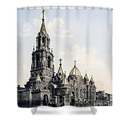 St. Demitry Church - Charkow - Ukraine - Ca 1900 Shower Curtain