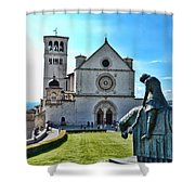 St Francis Basilica   Assisi Italy Shower Curtain