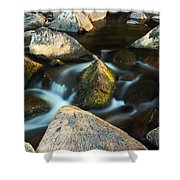St Francis River At Dusk II Shower Curtain