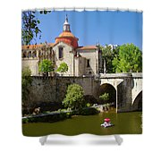 St Goncalo Cathedral Shower Curtain by Carlos Caetano