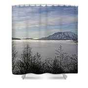 St Helens Above Clouds Shower Curtain