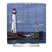 St. Ignace Lighthouse Shower Curtain