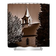 St. John's Lutheran Church In The Trees Shower Curtain