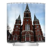 St. Josaphat Roman Catholic Church Detroit Michigan Shower Curtain by Gordon Dean II