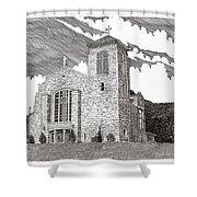 St. Joseph Apache Cathedral Shower Curtain
