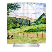 St. Kevin's And Wicklow Mountians Shower Curtain