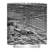 St. Louis Arch Construction Shower Curtain