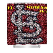 St. Louis Cardinals World Series Bottle Cap Mosaic Shower Curtain