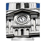 St Louis Cathedral Clock Jackson Square French Quarter New Orleans Fresco Digital Art Shower Curtain