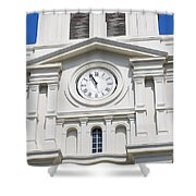 St Louis Cathedral Clock Jackson Square French Quarter New Orleans Shower Curtain