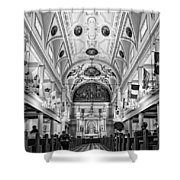 St. Louis Cathedral Monochrome Shower Curtain