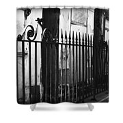 St Louis Cemetery Number One Tombs And Wrought Iron Shower Curtain