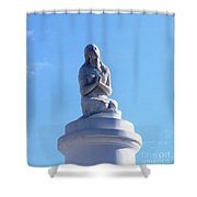 St. Louis Cemetery Statue 1 Shower Curtain