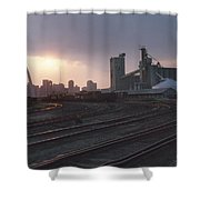 St. Louis: Freight Yard Shower Curtain