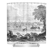 St. Louis, Missouri, 1854 Shower Curtain