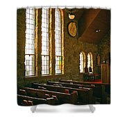 St Malo Church Shower Curtain