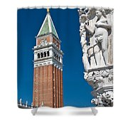 St Marks Tower Shower Curtain