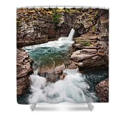 St. Mary Falls Glacier National Park Shower Curtain