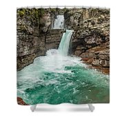 St. Mary Falls In Spring Shower Curtain