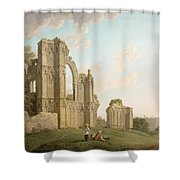 St Mary's Abbey -york Shower Curtain by Michael Rooker